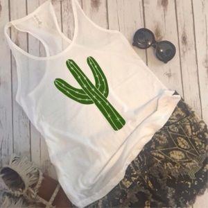Tops - Cactus Racerback Tank